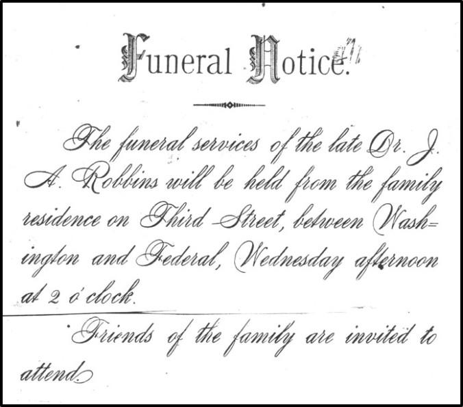 JA Robbins funeral