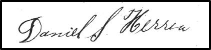 Daniel S Herren signature
