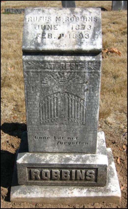 Rufus Robbins gravestone