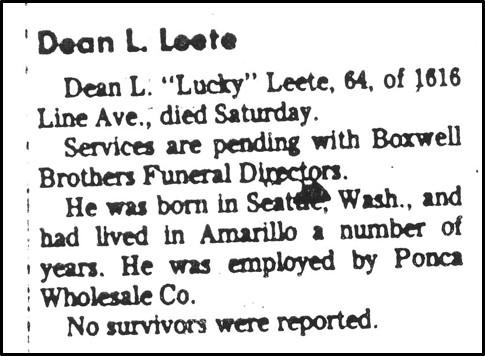 Dean Leete obit rev
